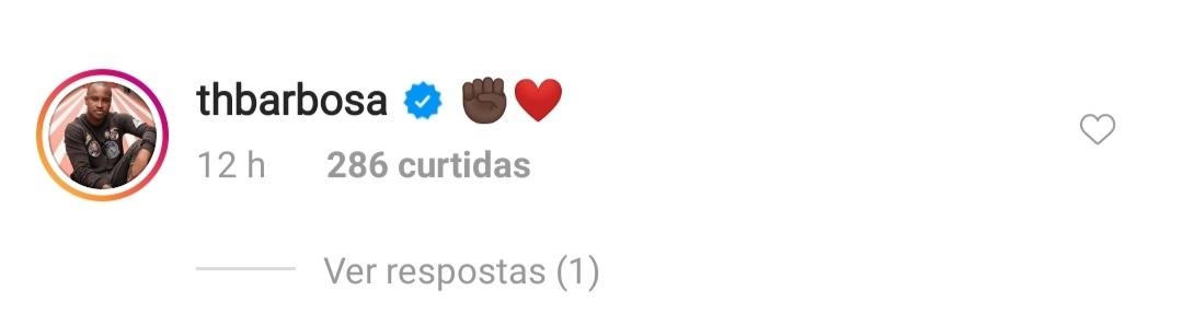 Thiaguinho respondeu a publicação da ex-esposa (Foto: reprodução/Instagram)