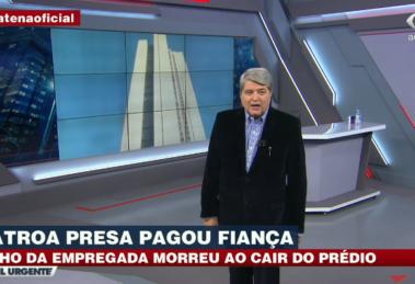 Datena explodiu ao vivo ao comentar o caso sobre a morte do menino Miguel (Foto: Reprodução)