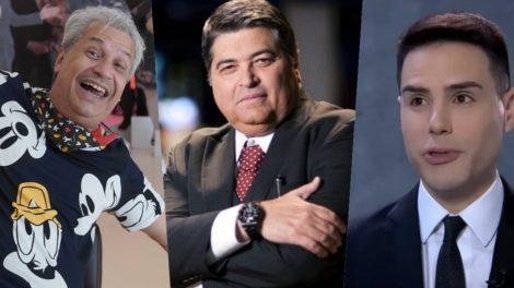 Datena, Sikêra Jr e Luiz Bacci podem perder seus programas na televisão (Foto montagem: TV Foco)