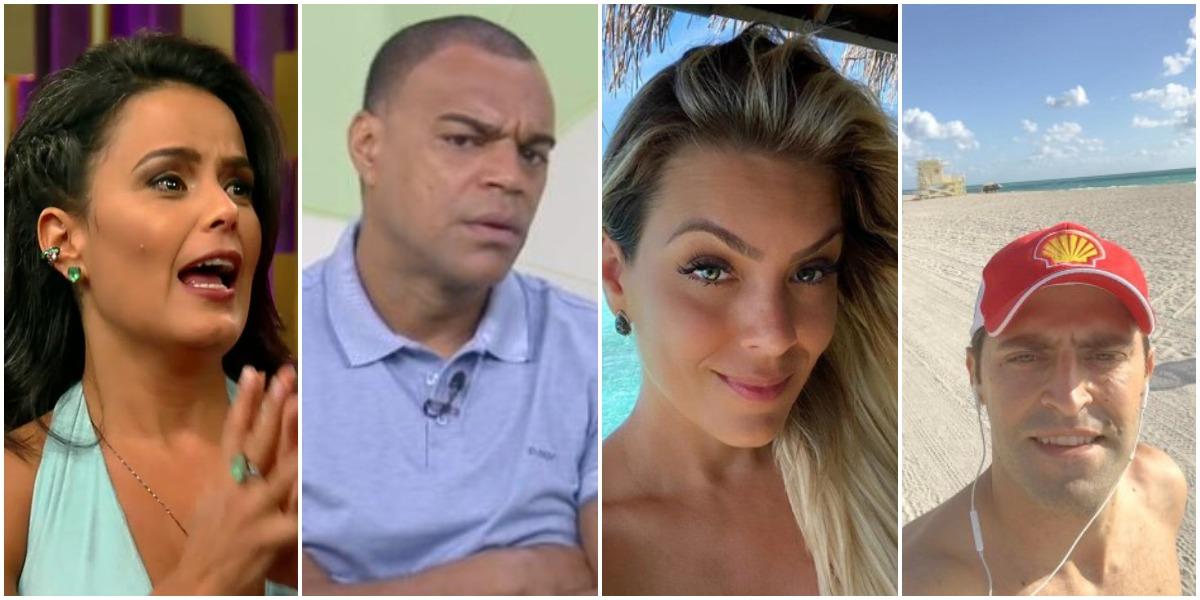 Denílson é casado com Luciele di Camargo e Renata Fan namora Átila Abreu (Reprodução)