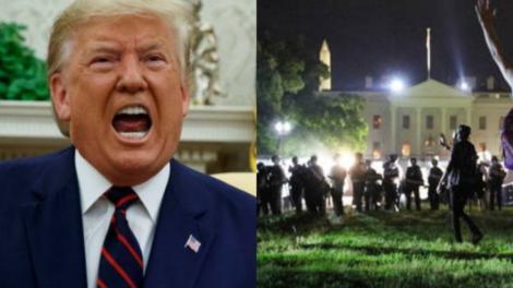 Protestos pela morte de George Floyd continuam e Donald Trump se esconde em bunker na Casa Branca (Foto: Reprodução)