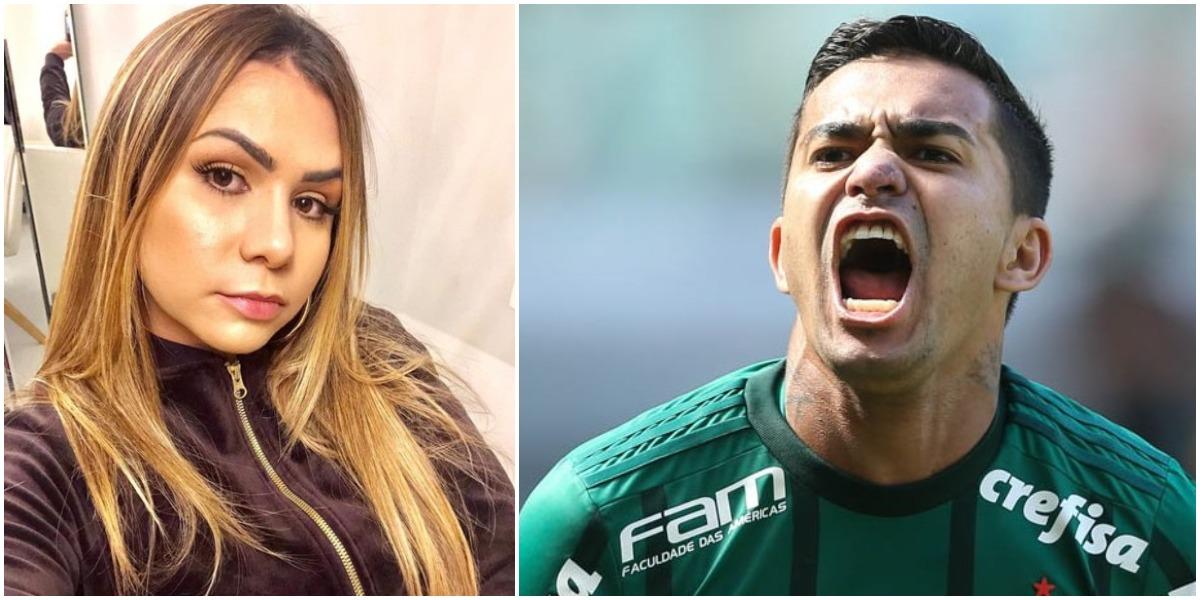 Palmeiras, Dudu está sendo acusado de agressão por Mallu Ohana (Reprodução)