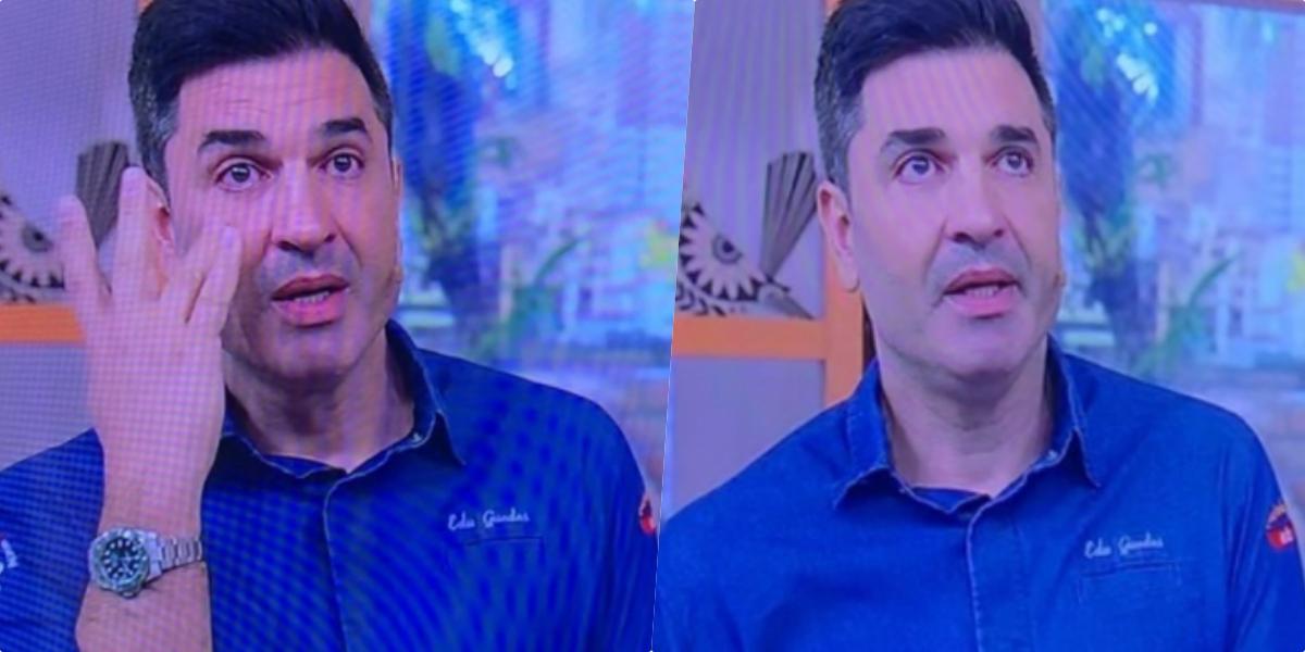 Edu Guedes chorou ao vivo na TV (Foto montagem)