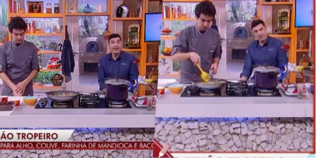 Edu Guedes, surgiu ao vivo na RedeTV, mesmo após acidente e deu exemplo (Foto montagem)