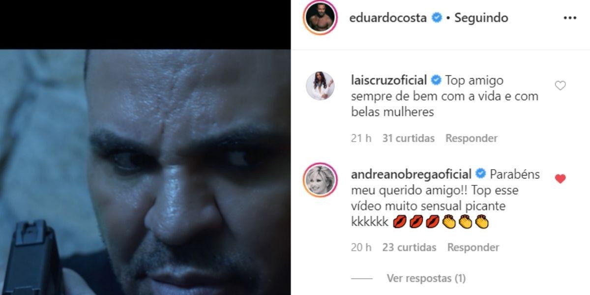 Eduardo Costa recebeu elogios de Andréa de Nóbrega (Foto: reprodução/Instagram)