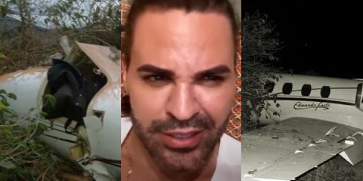 Eduardo Costa sofreu um grave acidente de avião (Foto montagem: TV Foco)