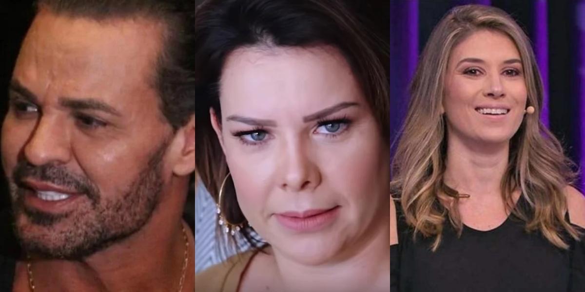 Eduardo Costa, Rebeca Abravanel e Fernanda Souza sofre (Foto: Reprodução/Montagem TV Foco)