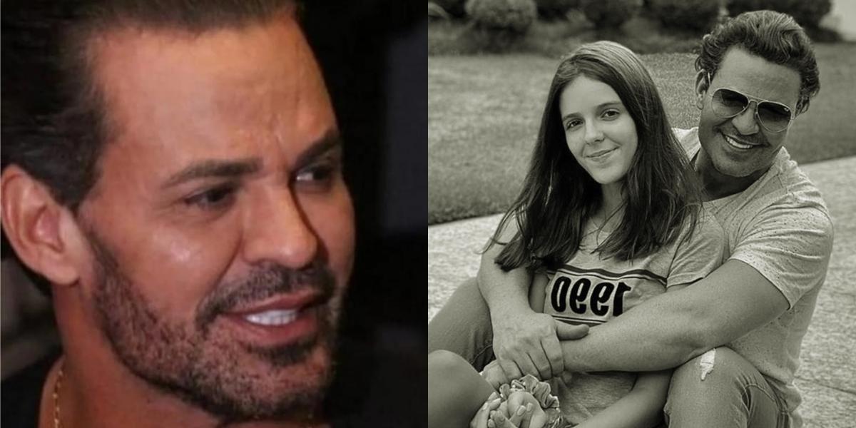 Eduardo Costa teve realidade com a filha exposto (Foto: reprodução)