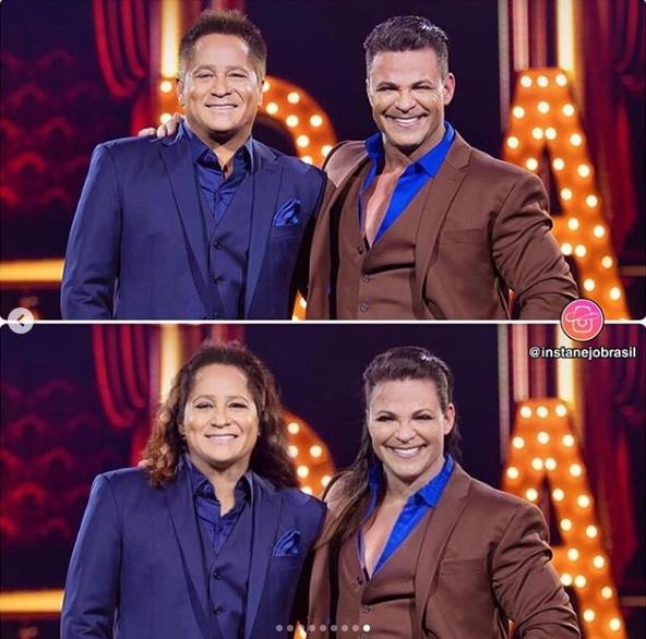 Eduardo Costa e Leonardo surgiram em versão feminina em mudança feita por app (Reprodução: Instagram)