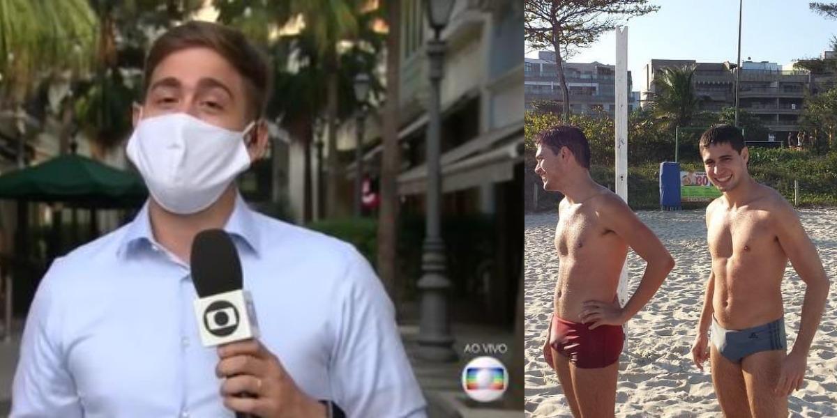 Erick Rianelli se declarou para o marido, Pedro Figueiredo, ao vivo (Foto: Reprodução/TV Globo)