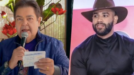 Faustão ignorou o veto da Globo e transmitiu Gusttavo Lima em seu programa (Foto montagem: TV Foco)