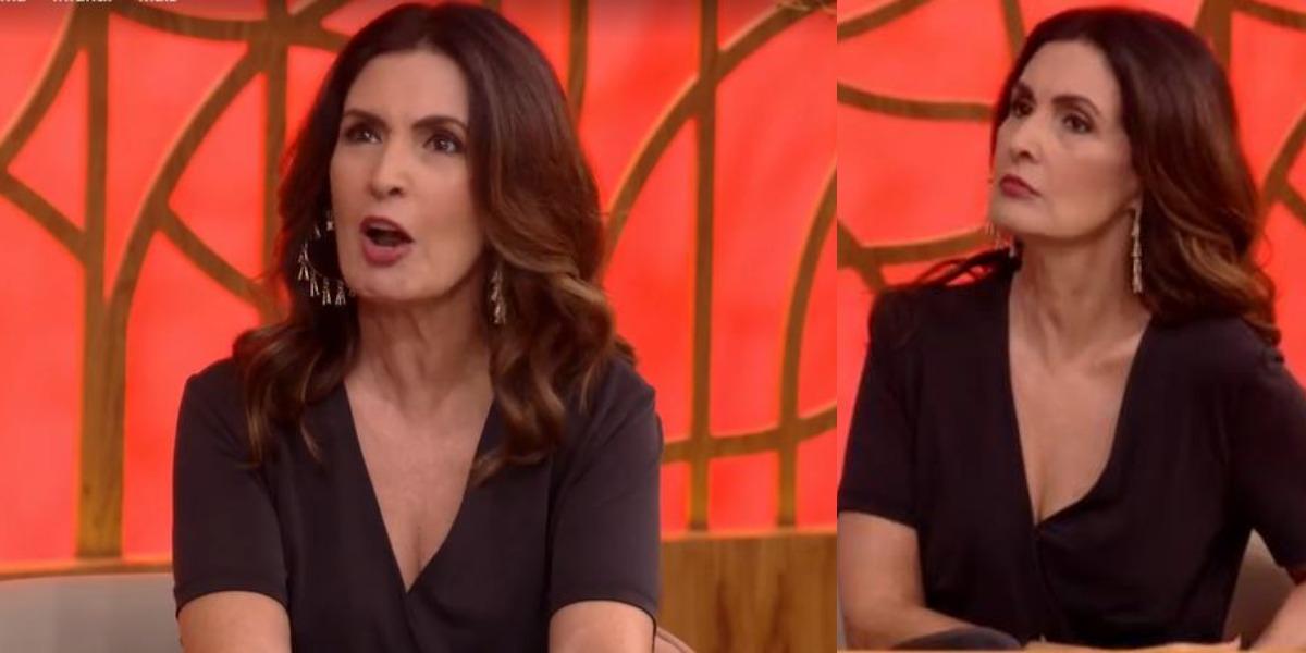 Fátima Bernardes se viu em polêmica no Encontro (Foto: Reprodução/TV Globo)