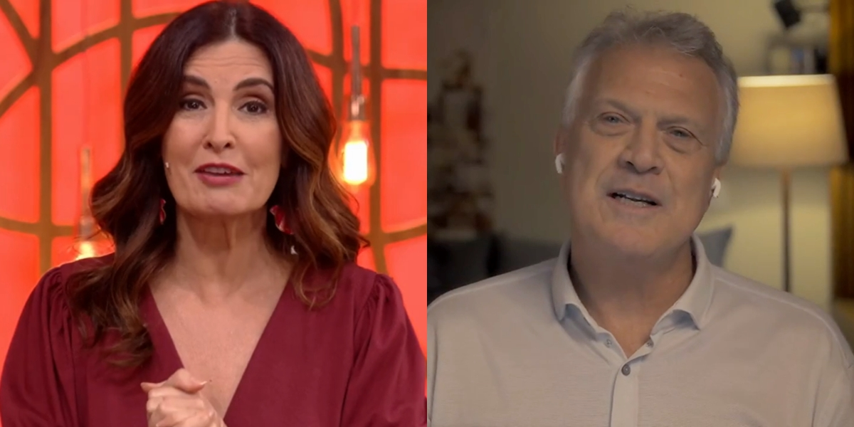 Fátima Bernardes no Encontro e Pedro Bial em seu talk show; matinal derrubou audiência (Foto: Reprodução/Globo/Montagem)