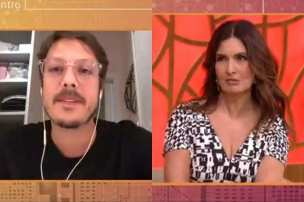 Fábio Porchat e Fátima Bernardes no Encontro