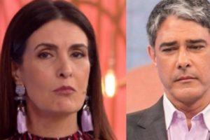 Fátima Bernardes defendeu William Bonner de golpe (Foto: Reprodução/TV Globo)