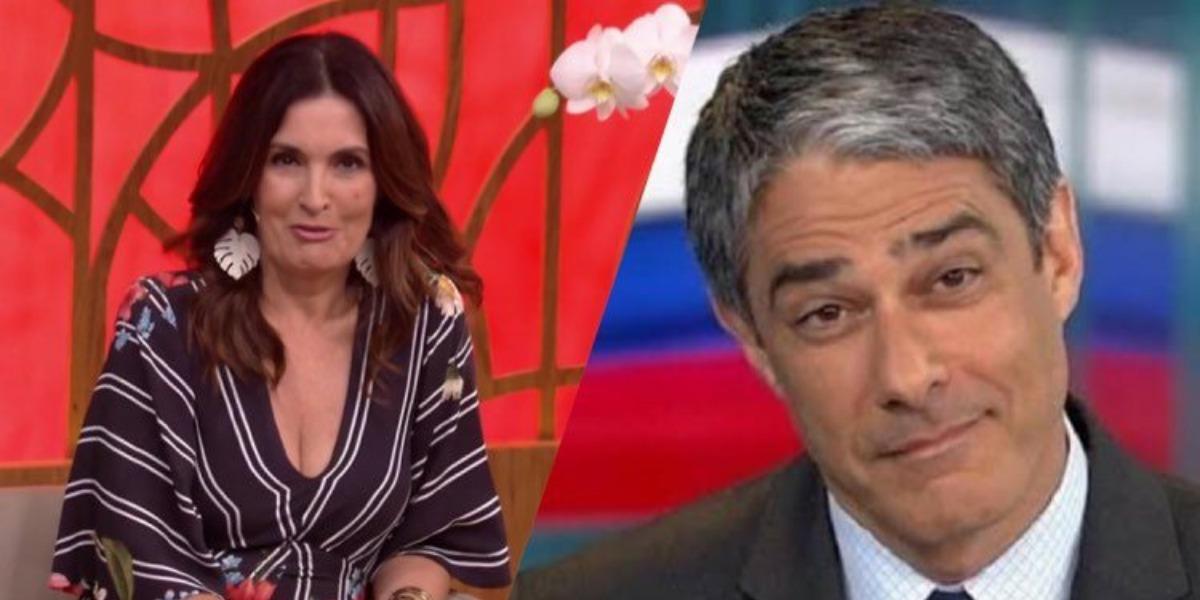 Fátima Bernardes e William Bonner, a apresentadora da Globo está com uma quarentena agitada (Montagem: TV Foco)