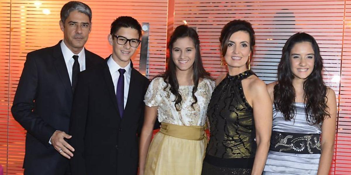 Fátima Bernardes e seus filhos com William Bonner (Foto: Reprodução/TV Globo)
