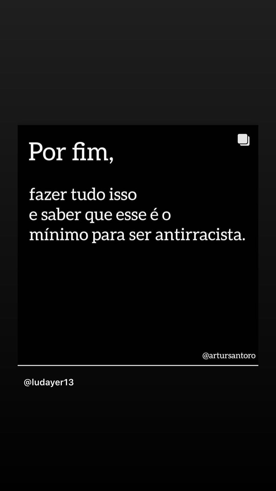 Fernanda Souza finalizou seu apelo pedindo o mínimo (Foto: Reprodução/Instagram)