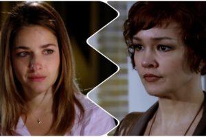 Beatriz (Monique Alfradique) e Esther (Julia Lemmertz) terão decisão sobre guarda da bebê em Fina Estampa (Foto: Reprodução/Globo)