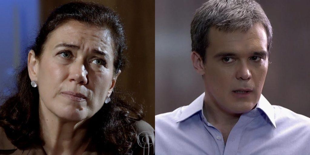 Griselda (Lilia Cabral) mentirá para Renê (Dalton Vigh) e manterá farsa em Fina Estampa (Foto: Reprodução/Globo)