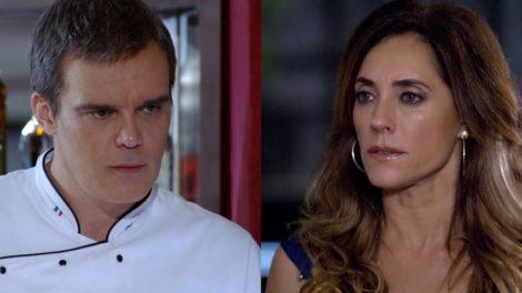 René (Dalton Vigh) vai escorraçar Tereza Cristina (Christiane Torloni) de seu restaurante em Fina Estampa (Foto: Reprodução/Globo)