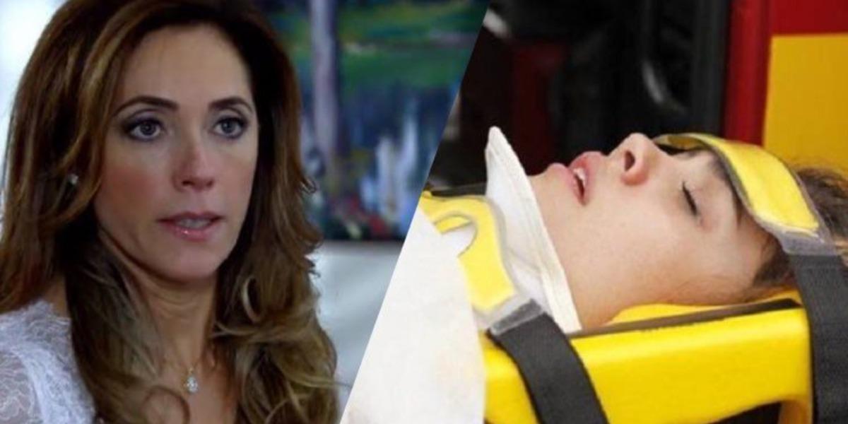 Fina Estampa, Amália sofre acidente de carro após Tereza Cristina colocar uma cobra no carro da jovem (Montagem: TV Foco)