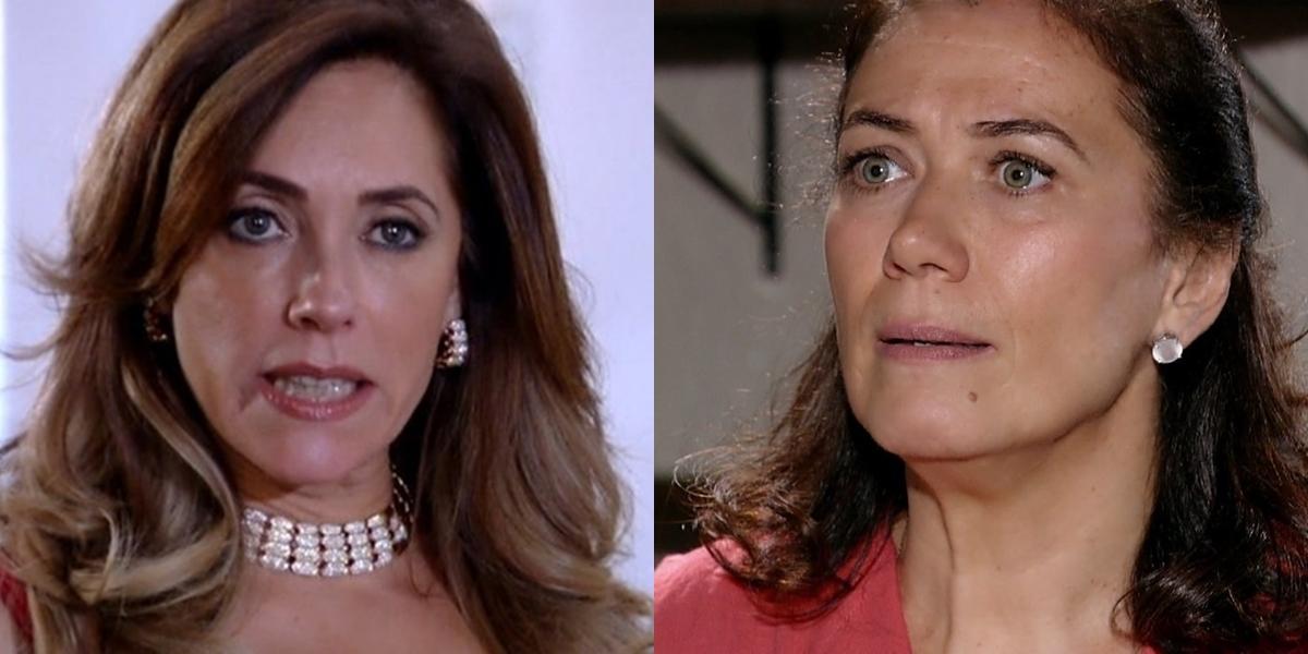 Tereza Cristina (Christiane Torloni) provocará incêndio em galpão para matar Griselda (Lilia Cabral) em Fina Estampa (Foto: Reprodução/Globo)