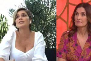 Flávia Alessandra foi aos prantos no programa de Fátima Bernardes (Foto: Reprodução/TV Globo)