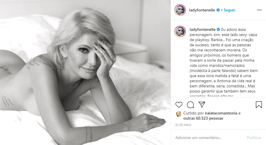 Apresentadora posou nua em cima da cama (Foto: Reprodução/ Instagram)