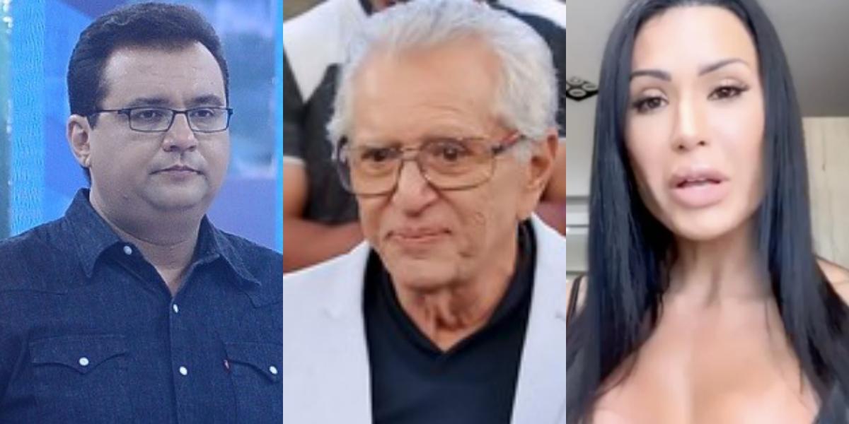 Sensitiva faz previsão para Geraldo Luis, Carlos Alberto de Nóbrega e Gracyanne Barbosa (Foto: Reprodução/Montagem TV Foco)