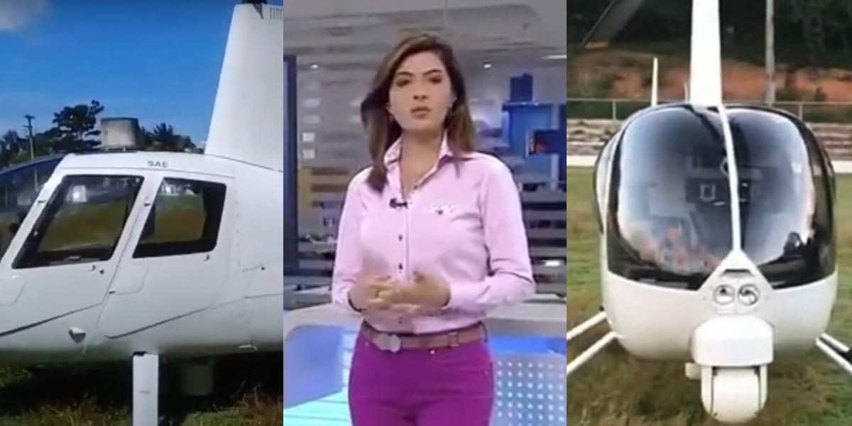 Um helicóptero da Rede Globo teve problemas no ar (Foto: reprodução)