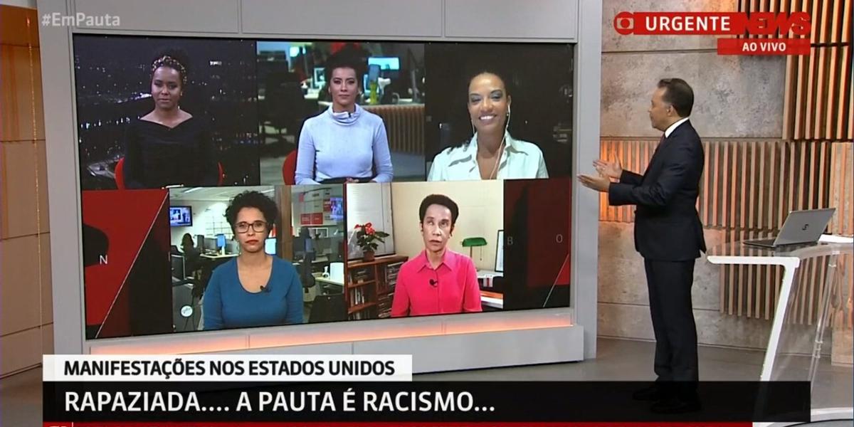 Heraldo Pereira no comando da edição histórica do programa Em Pauta que debateu sobre racismo (Foto: Reprodução)