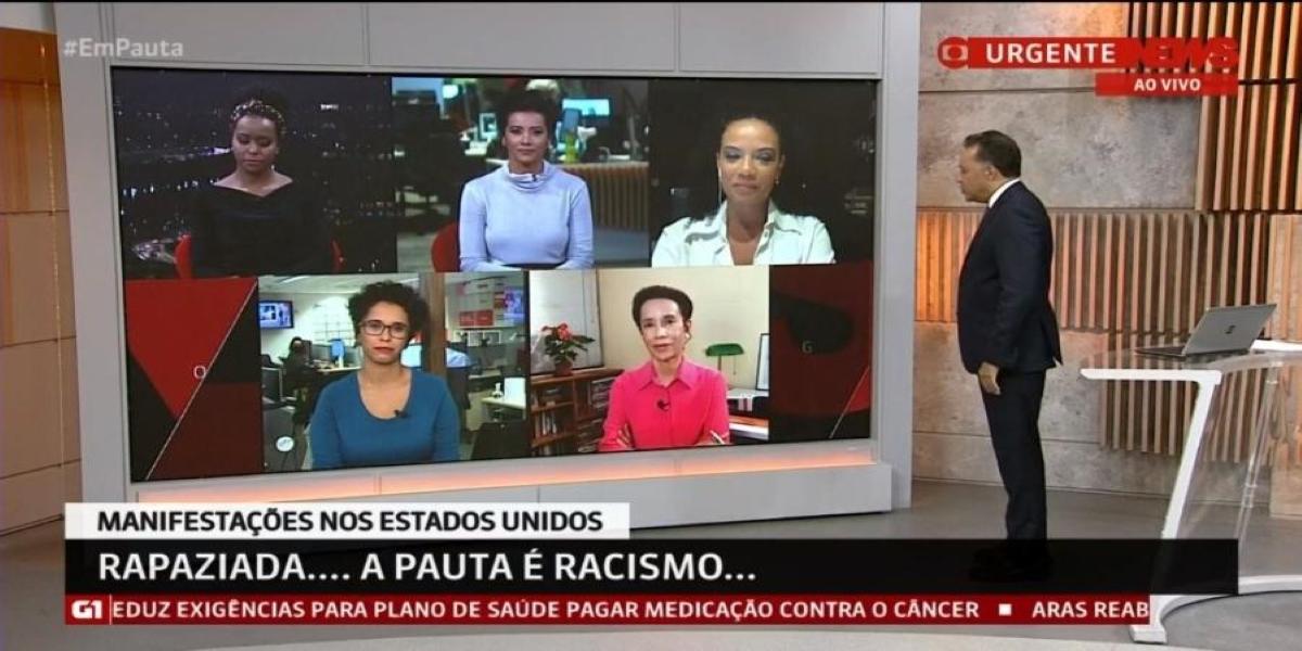 Canal da Globo escala jornalistas negros após críticas em cobertura (Foto: Reprodução)