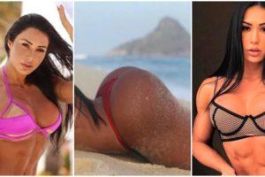 belo Gracyanne Barbosa não tem vergonha de expor seu corpo definido em fotos ousadas (Reprodução)
