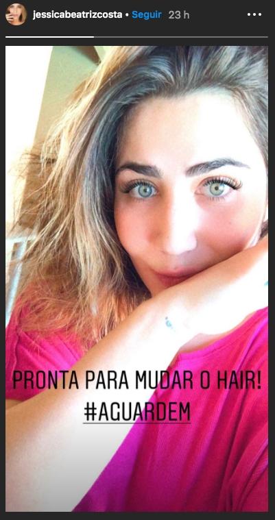 Jéssica Costa, filha de Leonardo, em seu stories (Foto: reprodução/Instagram)