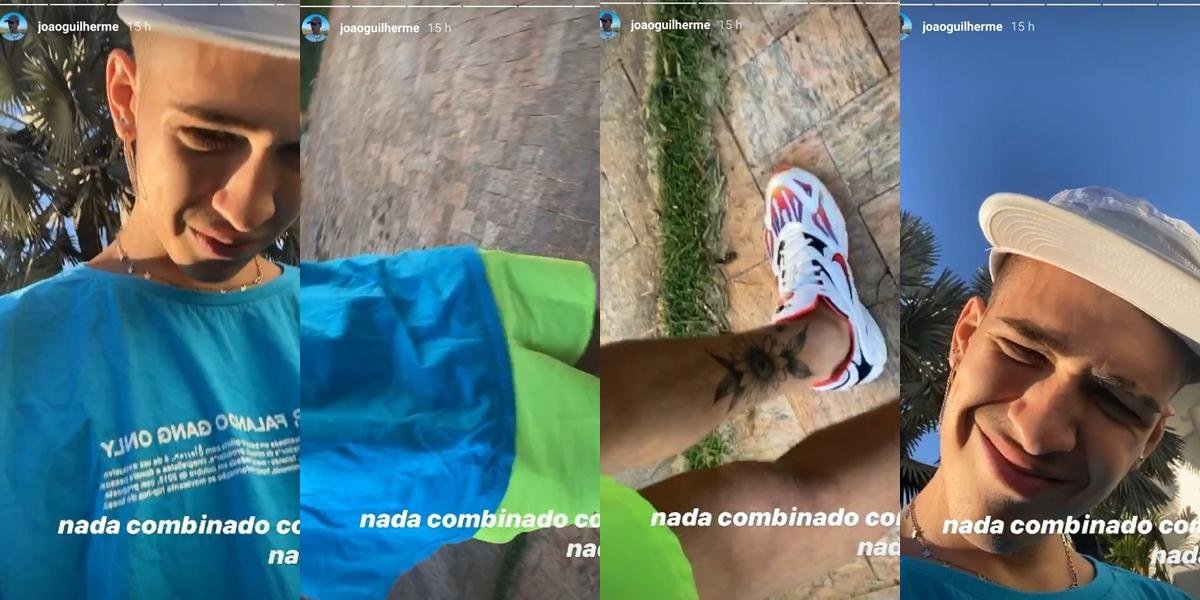 João Guilherme mostrou seu look (Foto: reprodução/Instagram)