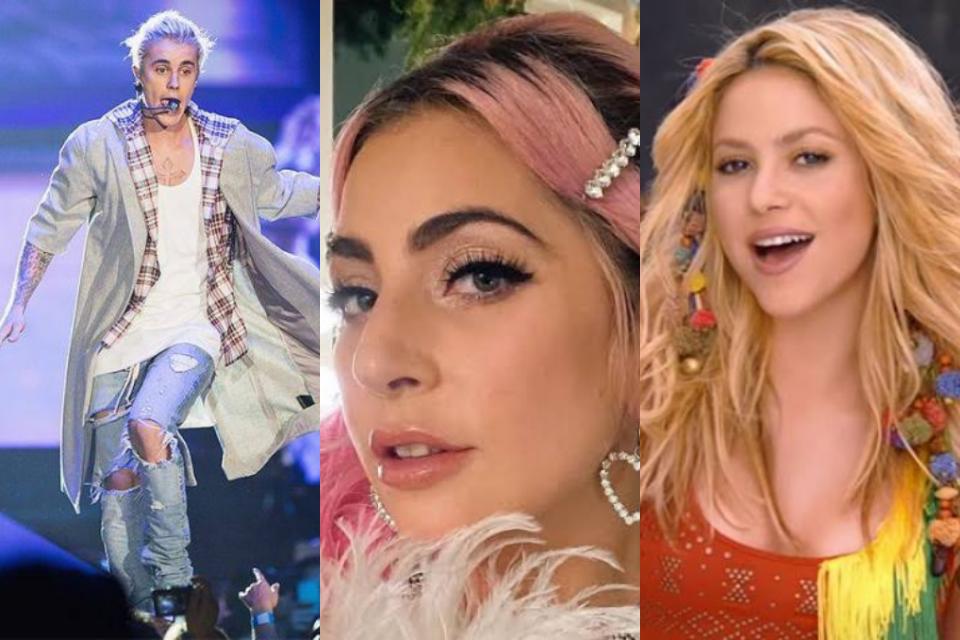 Justin Bieber, Lady Gaga e Shakira protagonizam live transmitida pela Globo (Foto: Reprodução)