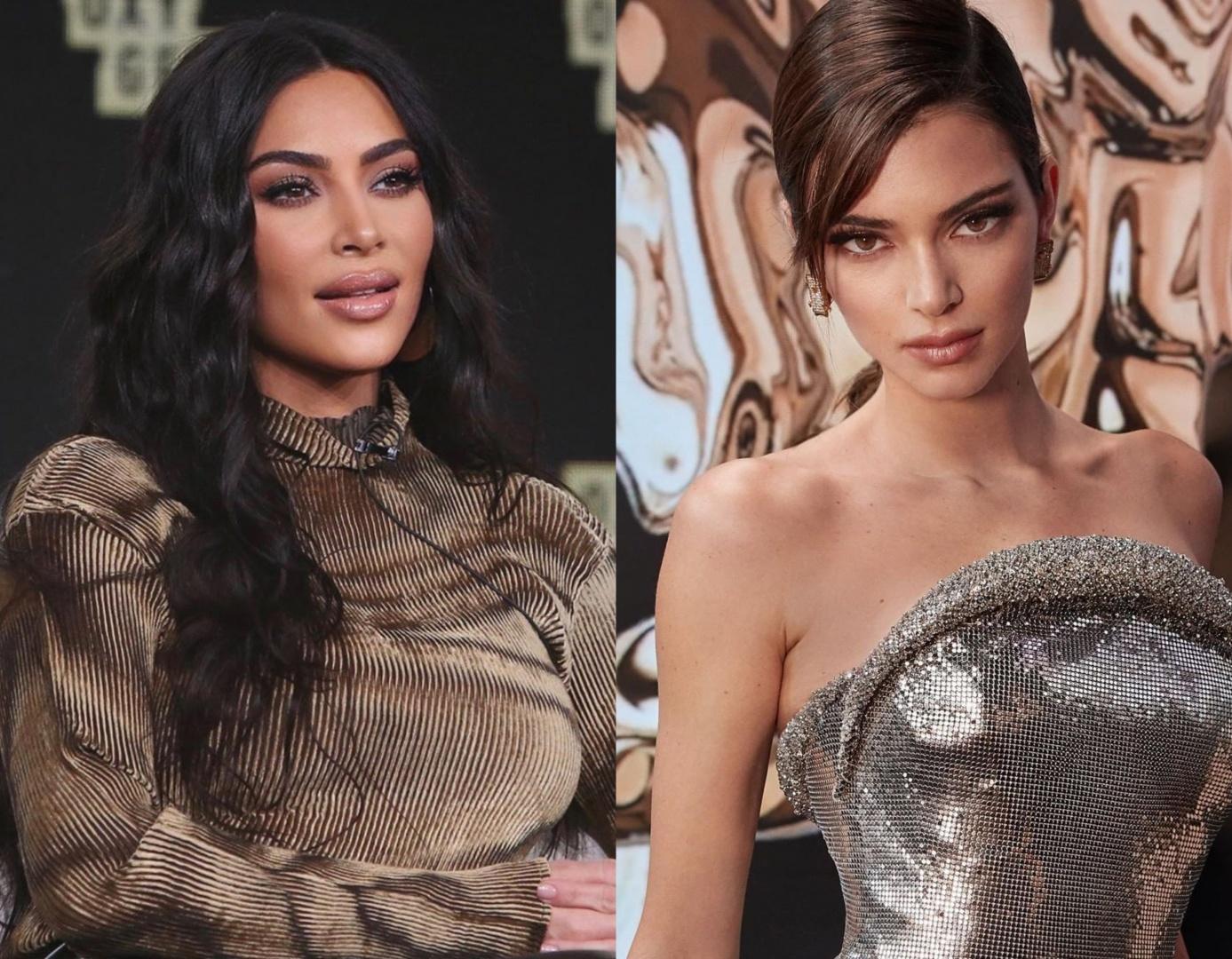 Kim Kardashian e Kendall Jenner tem treta escancarada (Foto: Reprodução)