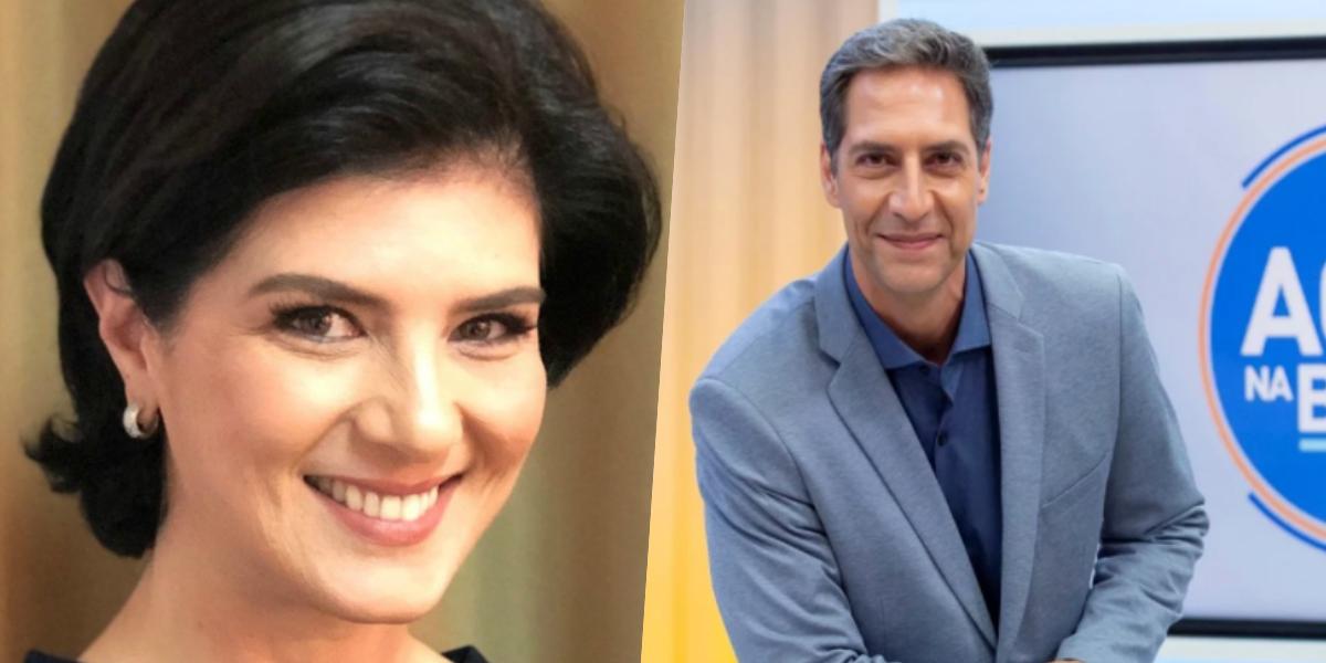 Mariana Godoy e Luís Ernesto Lacombe; apresentadora comandará programa que substituirá o Aqui na Band (Foto: Reprodução)