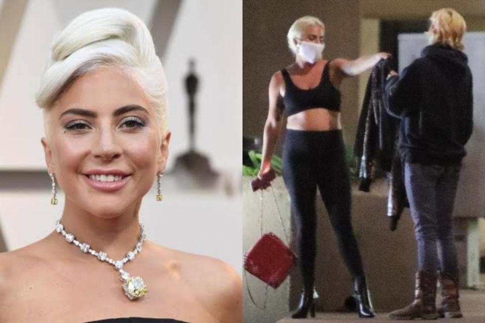 Fã é surpreendida por Lady Gaga no supermercado e ganha jaqueta de presente (Foto: Reprodução)