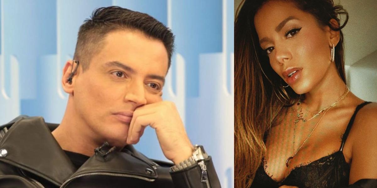 Leo Dias entrou em guerra com Anitta (Foto: Reprodução/SBT/Instagram)