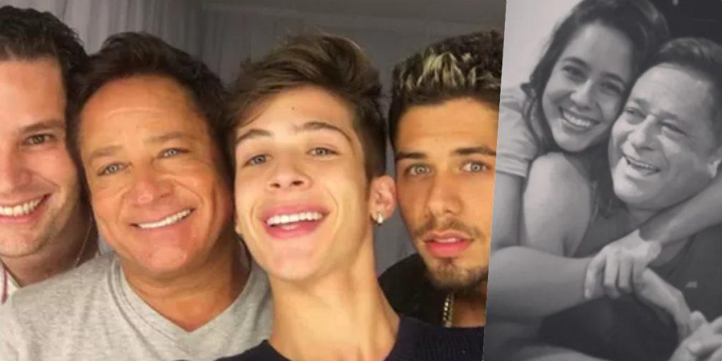 Filhos do cantor Leonardo tem vida exposta, diferentemente de filha (Foto montagem)