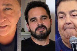 Leonardo, Luciano Camargo e Faustão possuem filhas desconhecidas da mídia (Foto montagem: TV Foco)