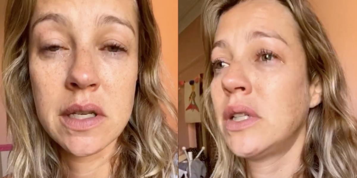 Luana Piovani assusta ao aparecer chorando nas redes sociais (Foto: Reprodução)