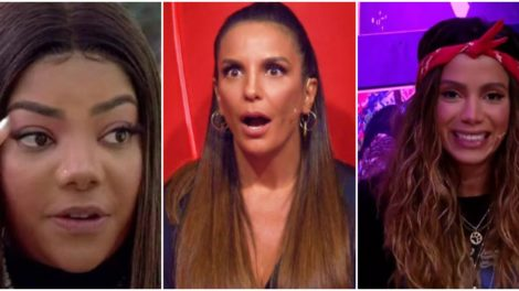 As cantoras Ludmilla, Ivete Sangalo e Anitta (Reprodução)