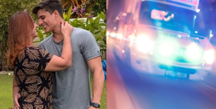 Mãe de Neymar chama ambulância para socorrer o namorado (Foto: Reprodução)