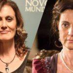 Márcia Cabrita surgiu em Novo Mundo no capítulo dessa quarta-feira, 03. Foi o último trabalho da atriz (imagem: Montagem: Globo)