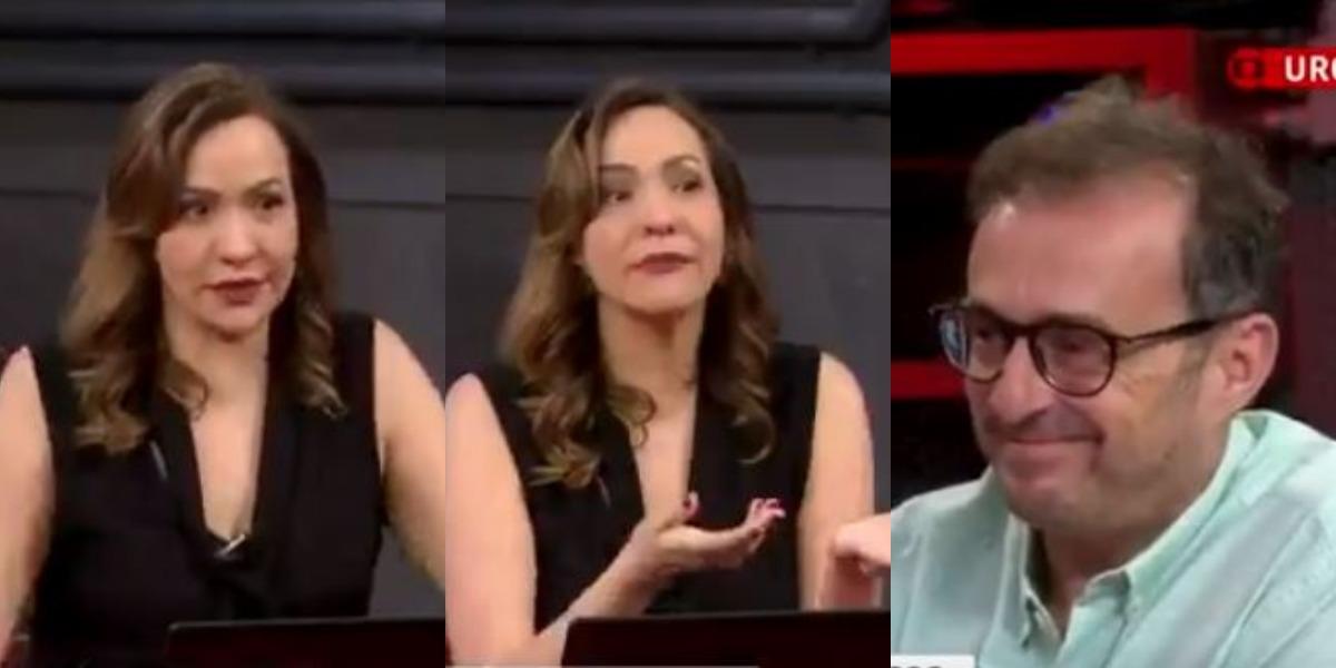 """Maria Beltrão, âncora do """"Estúdio i"""", e Octavio Guedes (Foto: Reprodução/GloboNews)"""