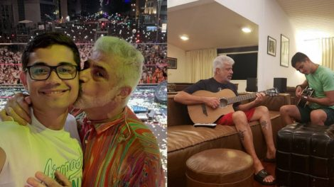 Marido de Lulu Santos revela paquera do casal no começo do relacionamento (Foto: Reprodução/Instagram)