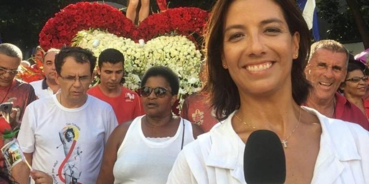 Marina Araújo ficou na mira de uma faca após um homem invadir a Globo na tarde dessa quarta-feira, 10 (Montagem: TV Foco)